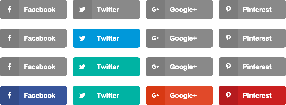 social share button colors