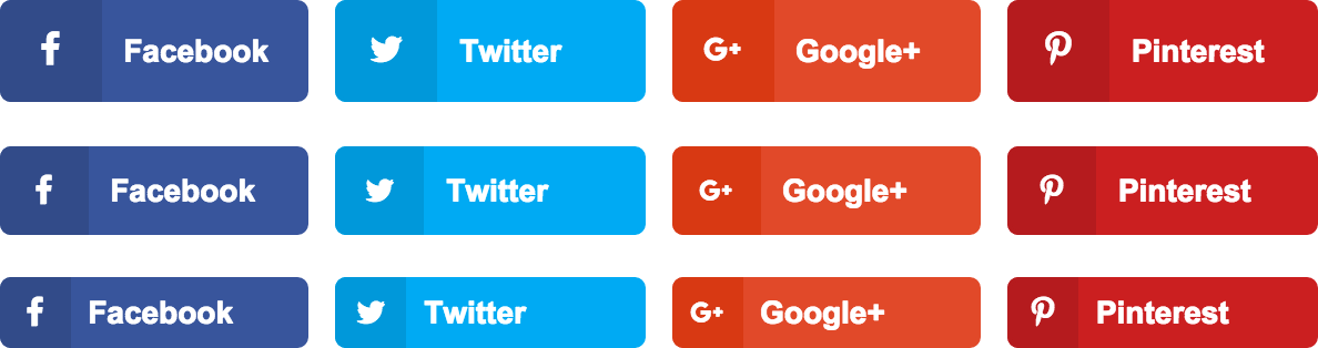 social share button size